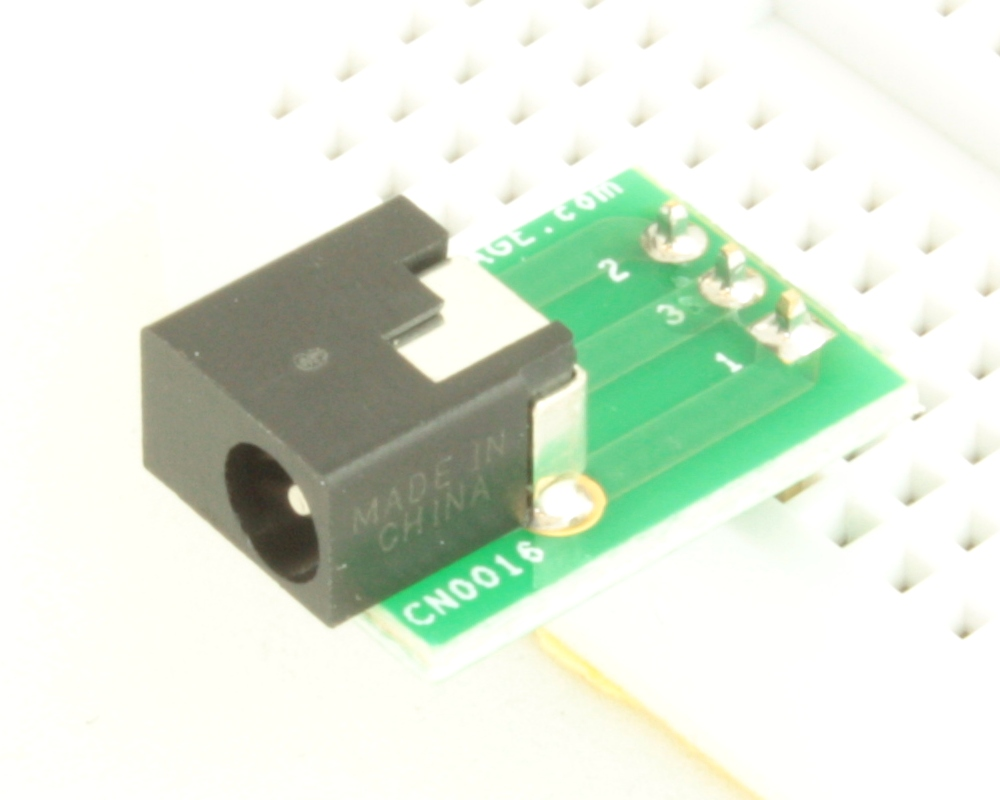 Jack 1.35mm ID, 3.5mm OD adapter board 0