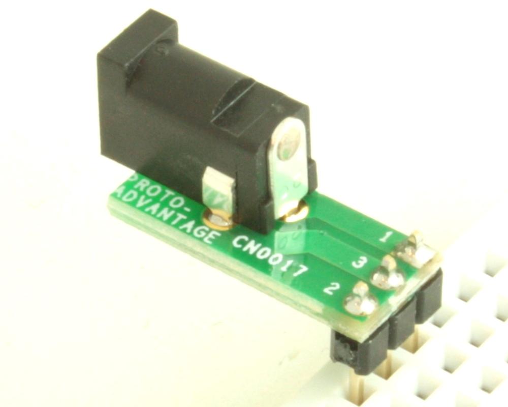Jack 1.7mm ID, 4mm OD (EIAJ-2) adapter board 1