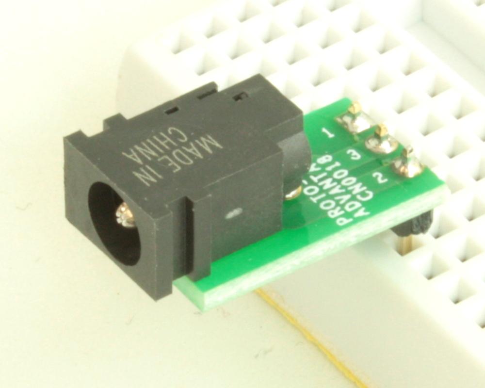 Jack 1.75mm ID, 4.75mm OD adapter board 0