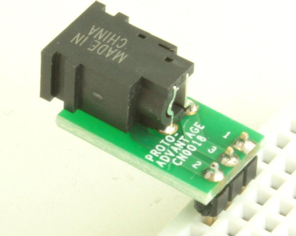 Jack 1.75mm ID, 4.75mm OD adapter board 1