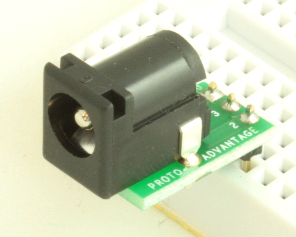 Jack 2.5mm ID, 5.5mm OD adapter board 0