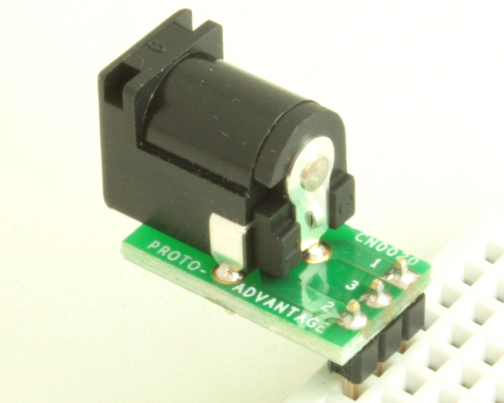 Jack 2.5mm ID, 5.5mm OD adapter board 1
