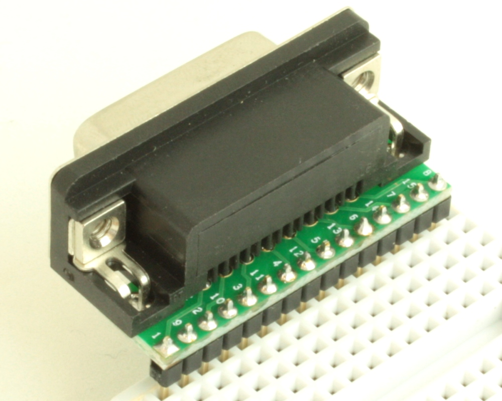 DB15 Female adapter board 1
