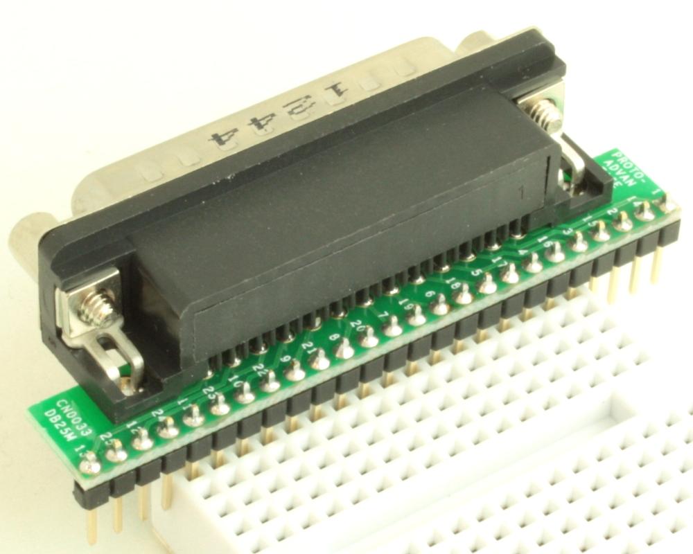 DB25 Male adapter board 1