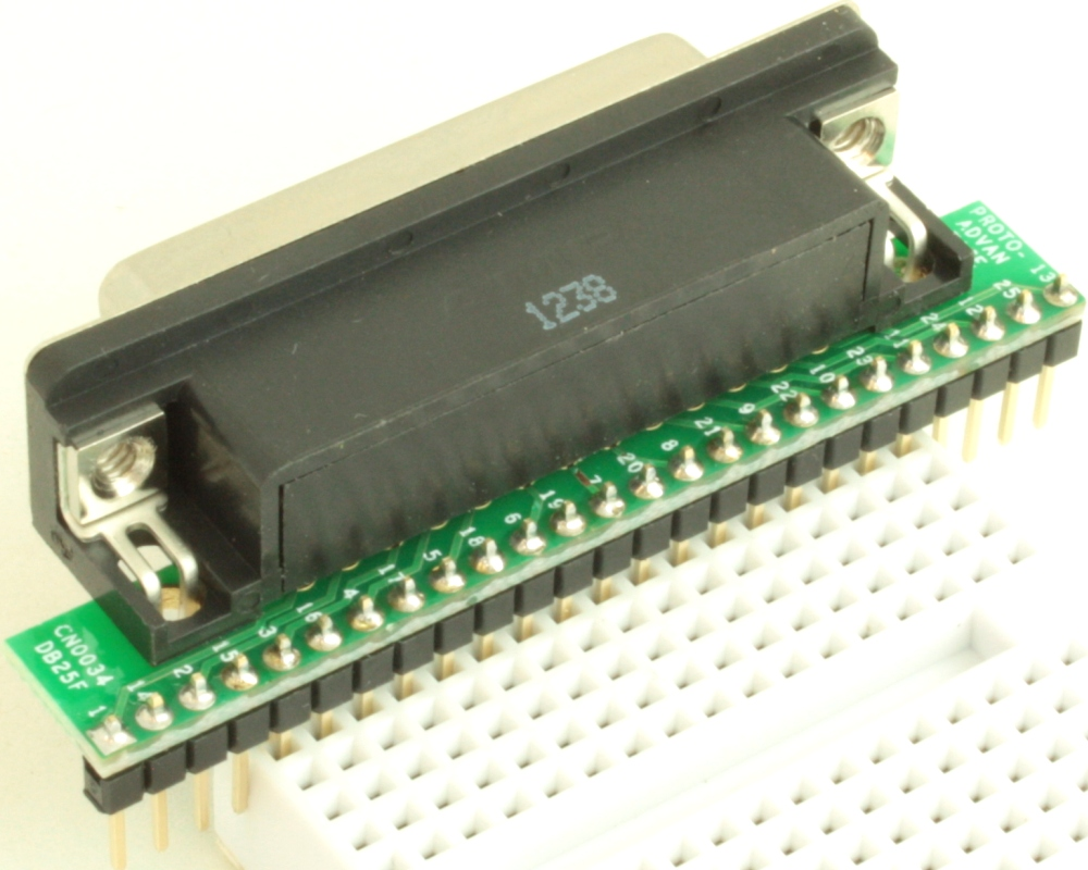 DB25 Female adapter board 1
