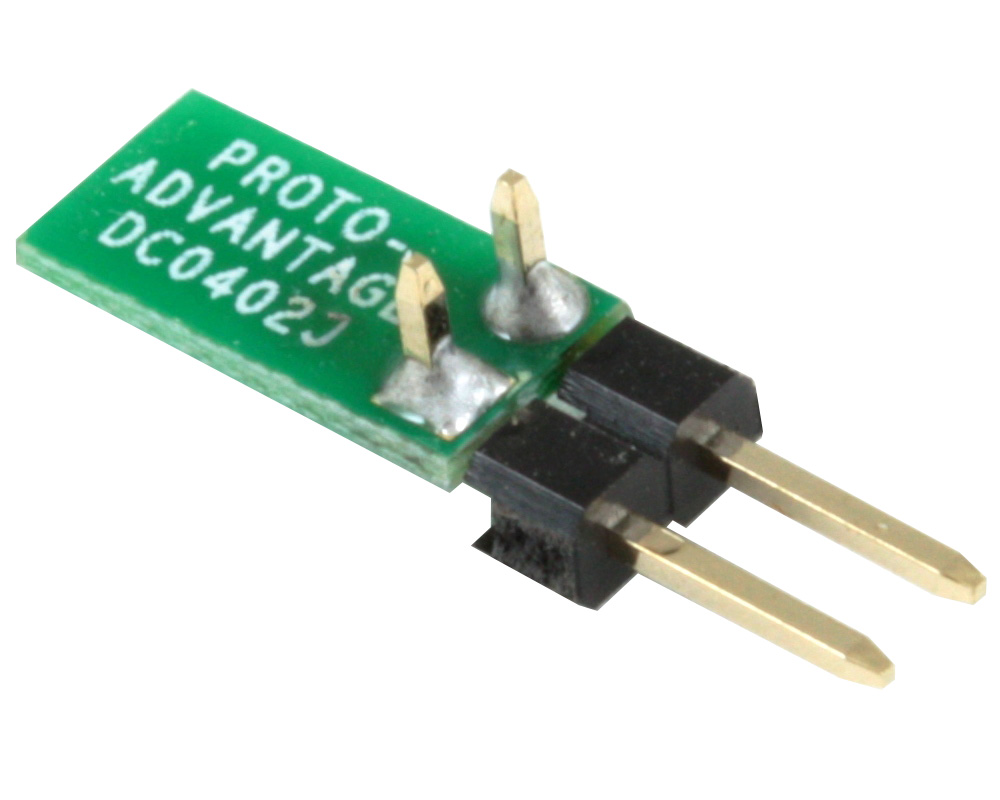 Discrete 01005 / 0201 / 0402 to TH Adapter - Jumper pins 1