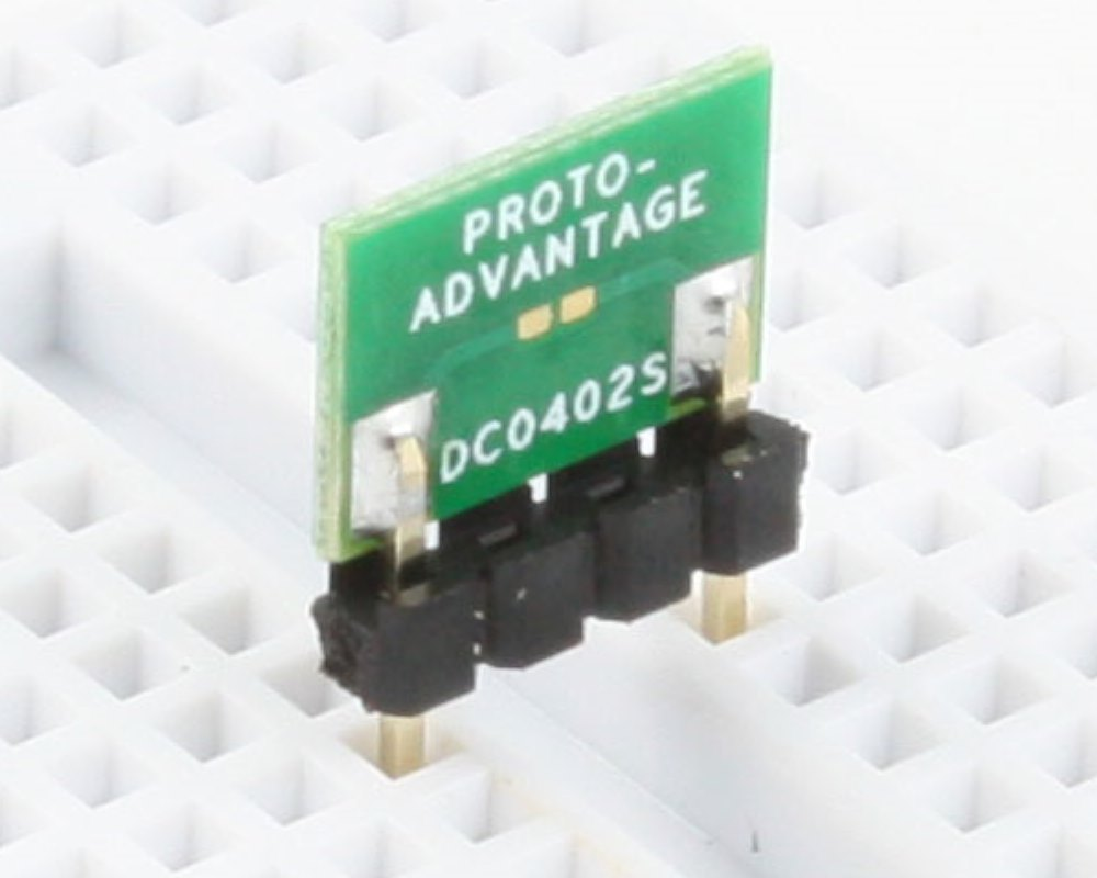 Discrete 0402 to 300mil TH Adapter - SM pins 0