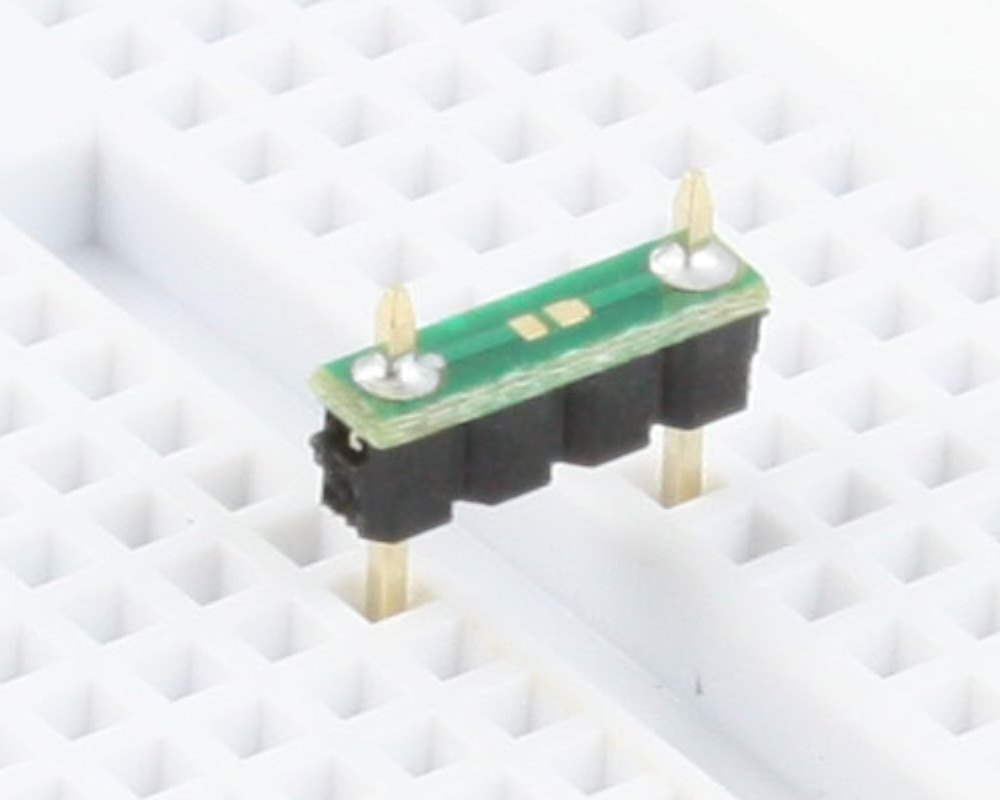Discrete 01005 / 0201 / 0402 to 300mil TH Adapter - TH pins 0