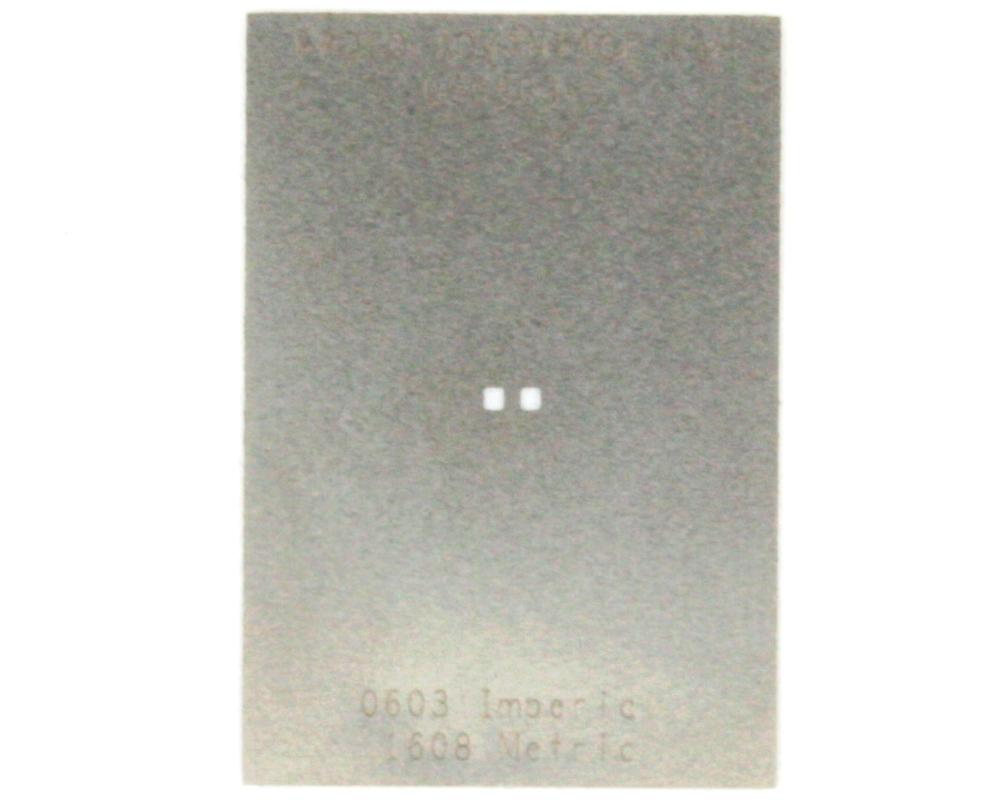 Discrete 0603 Stainless Steel Stencil 0