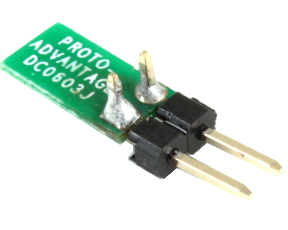 Discrete 0603 to TH Adapter - Jumper pins 1