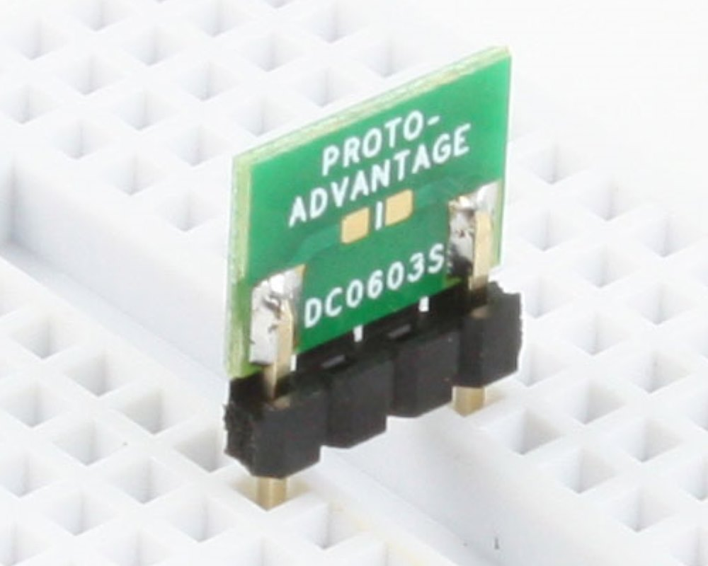 Discrete 0603 to 300mil TH Adapter - SM pins 0