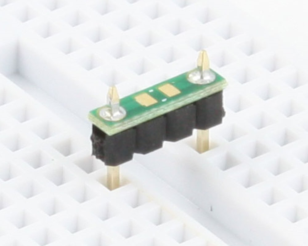 Discrete 0805 to 300mil TH Adapter - TH pins 0