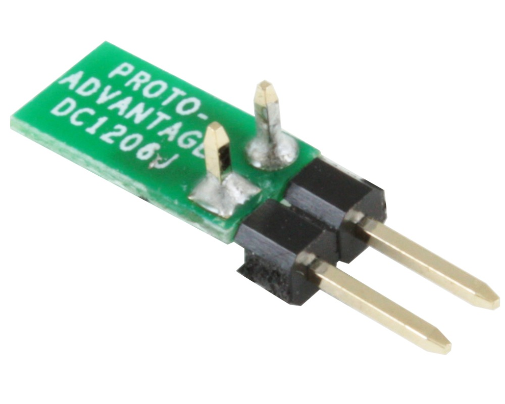 Discrete 1206 to TH Adapter - Jumper pins 1