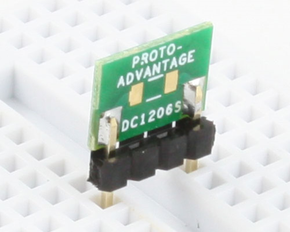 Discrete 1206 to 300mil TH Adapter - SM pins 0