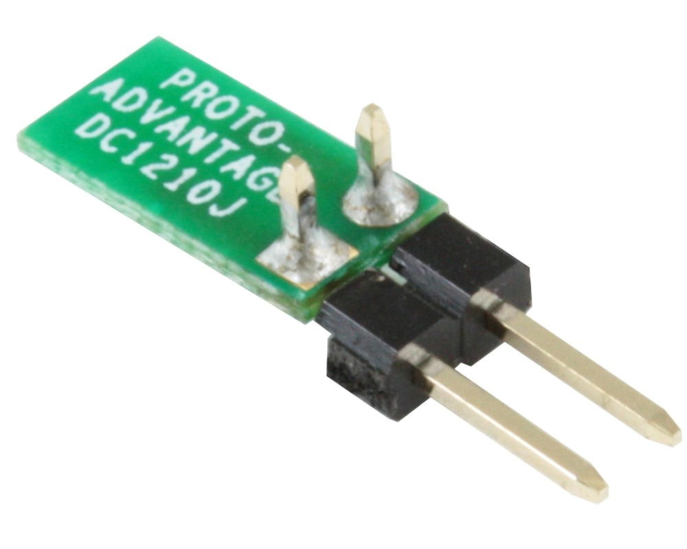Discrete 1210 to 300mil TH Adapter - Jumper pins 1