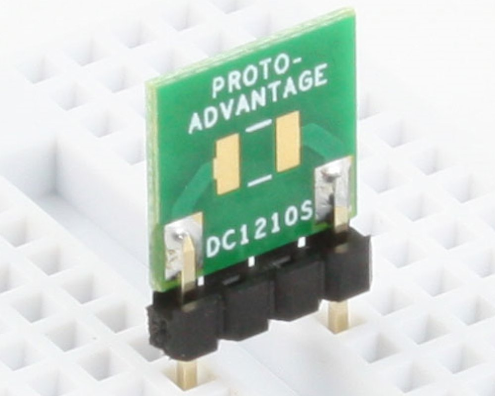 Discrete 1210 to 300mil TH Adapter - SM pins 0