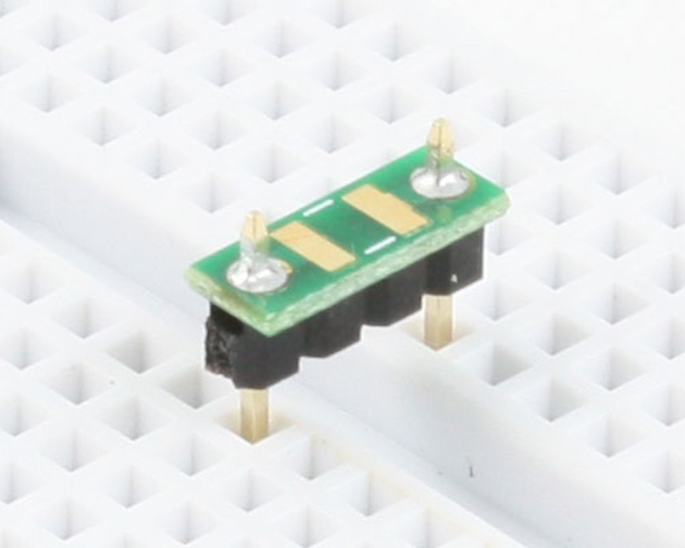 Discrete 1210 to 300mil TH Adapter - TH pins 0
