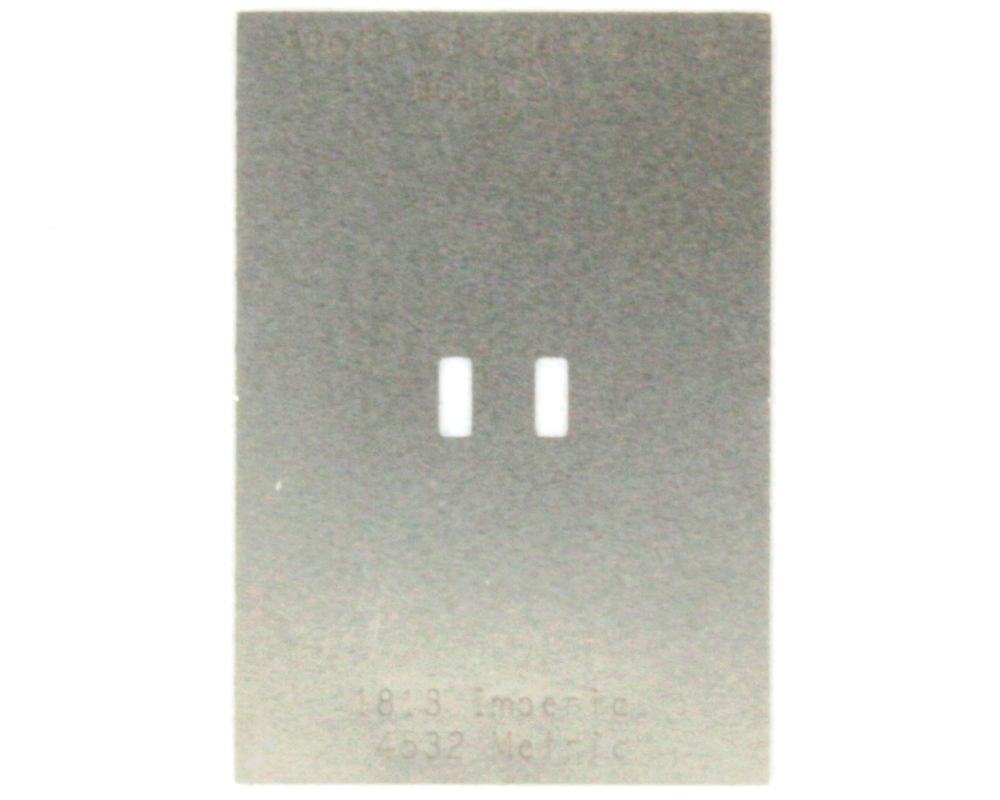 Discrete 1813 Stainless Steel Stencil 0