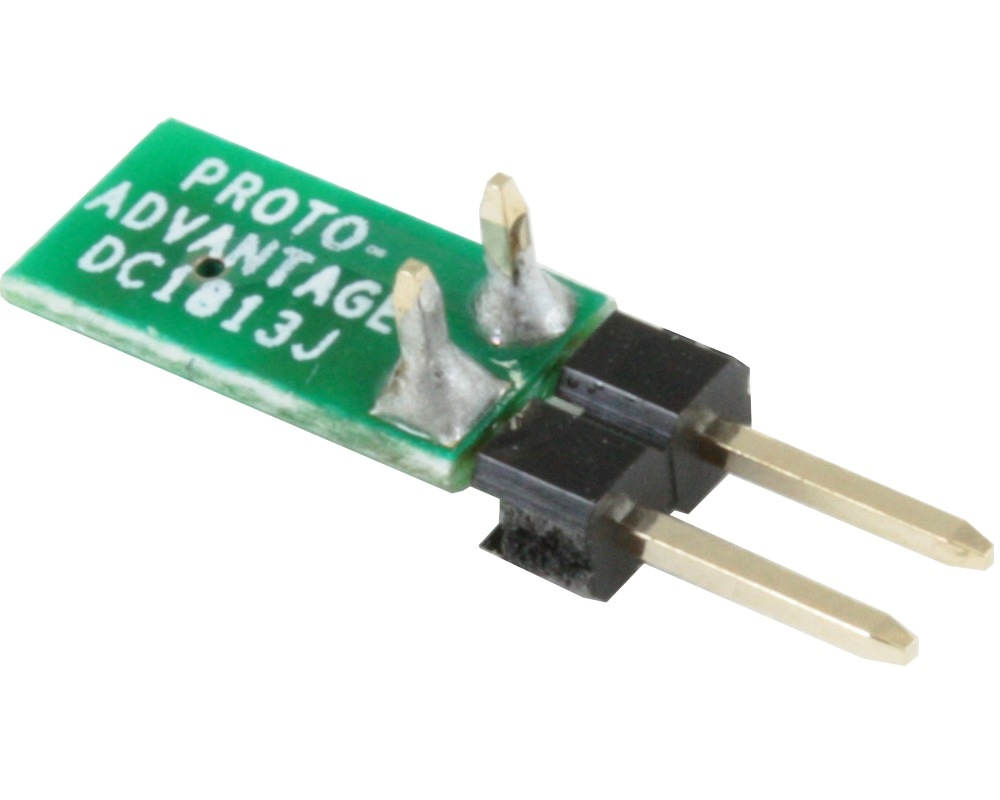 Discrete 1813 to 300mil TH Adapter - Jumper pins 1
