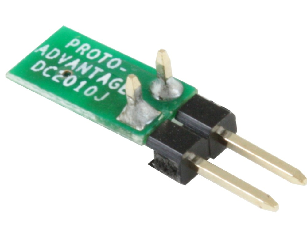 Discrete 2010 to 300mil TH Adapter - Jumper pins 1