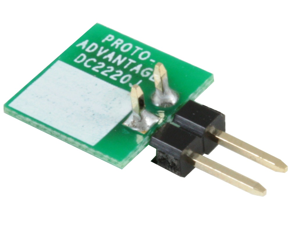 Discrete 2220 to TH Adapter - Jumper pins 1