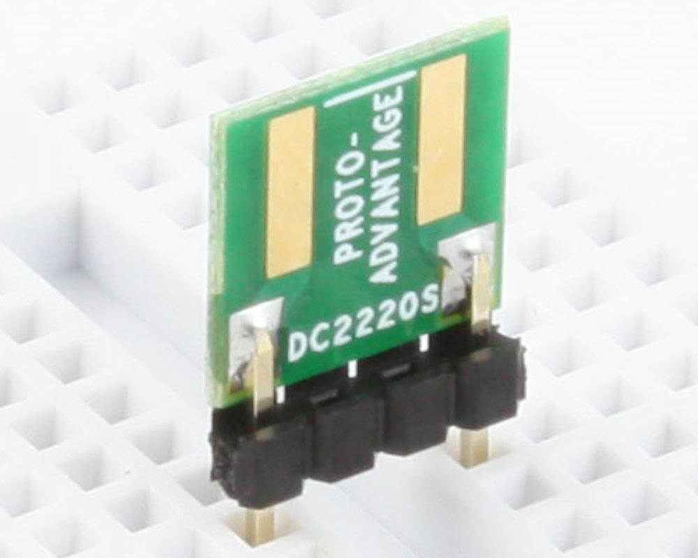 Discrete 2220 to 300mil TH Adapter - SM pins 0
