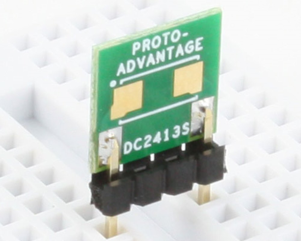 Discrete 2413 to 300mil TH Adapter - SM pins 0
