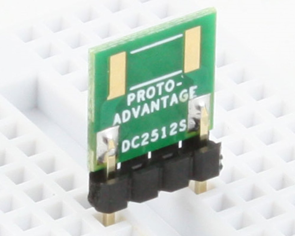 Discrete 2512 to 300mil TH Adapter - SM pins 0