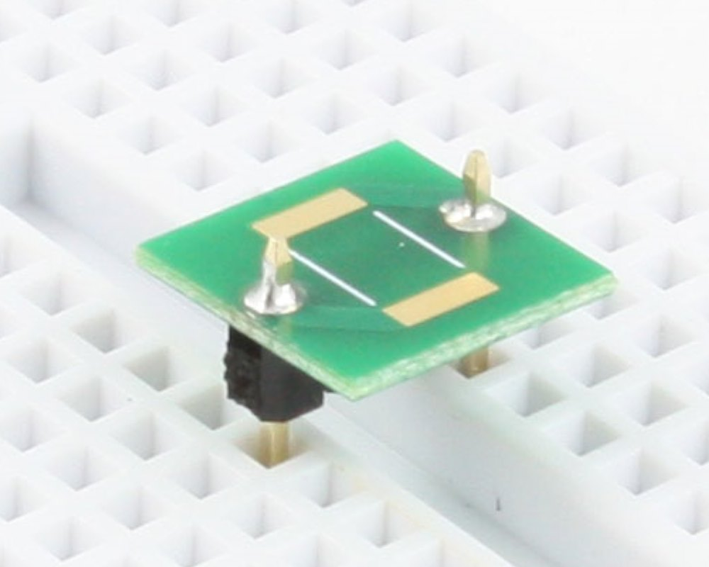 Discrete 2512 to 300mil TH Adapter - TH pins 0