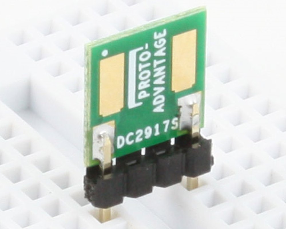 Discrete 2917 to 300mil TH Adapter - SM pins 0