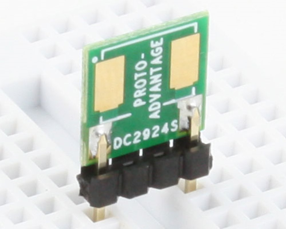 Discrete 2924 to 300mil TH Adapter - SM pins 0