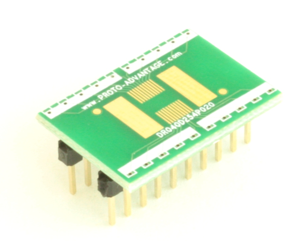 Dual Row 0.4mm Pitch  20-Pin Connector to DIP-20 Adapter 0