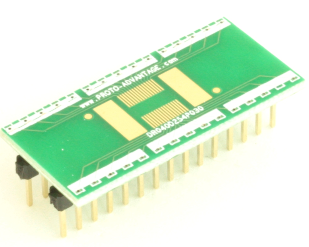Dual Row 0.4mm Pitch  30-Pin Connector to DIP-30 Adapter 0