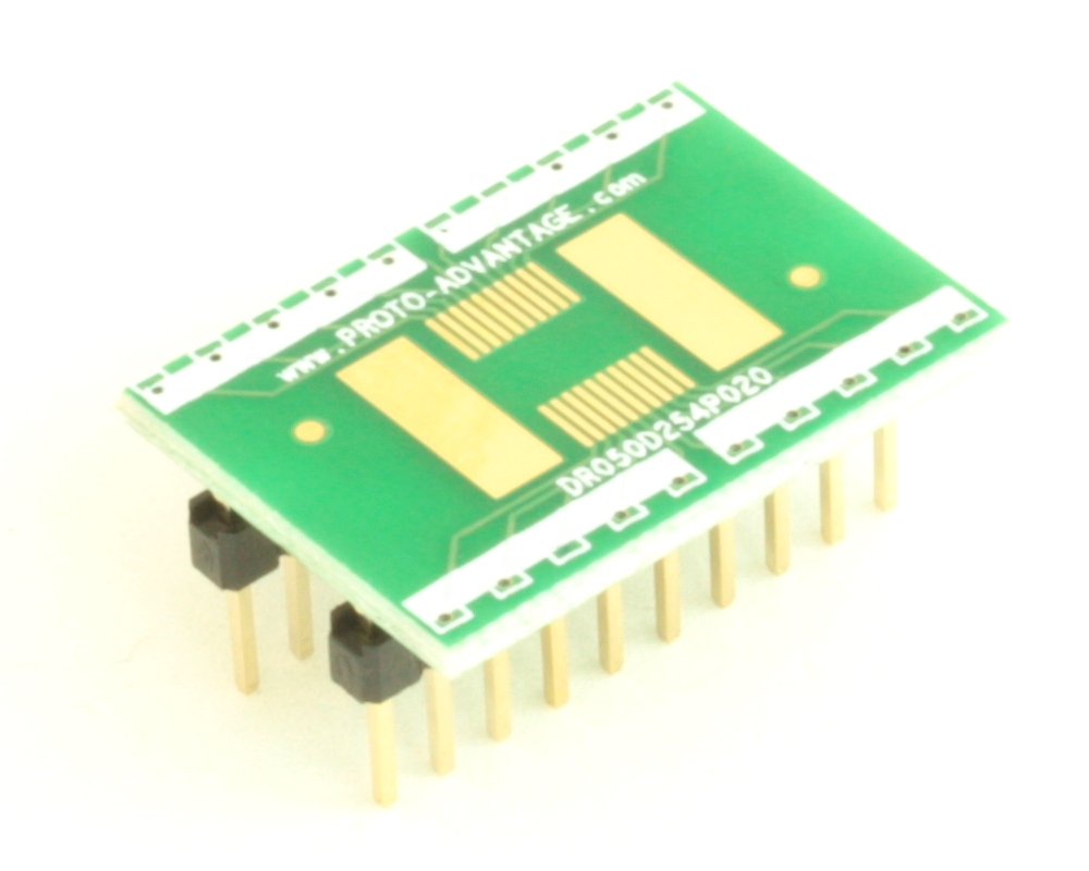 Dual Row 0.5mm Pitch  20-Pin Connector to DIP-20 Adapter 0