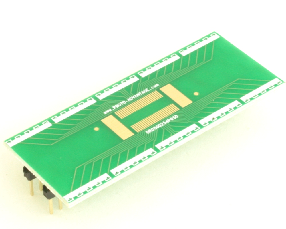 Dual Row 0.5mm Pitch  50-Pin Connector to DIP-50 Adapter 0