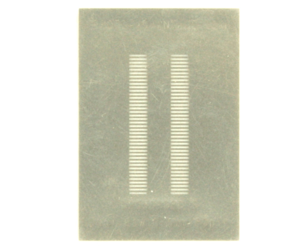 Dual Row 0.5mm Pitch 80-Pin Connector Stencil 0