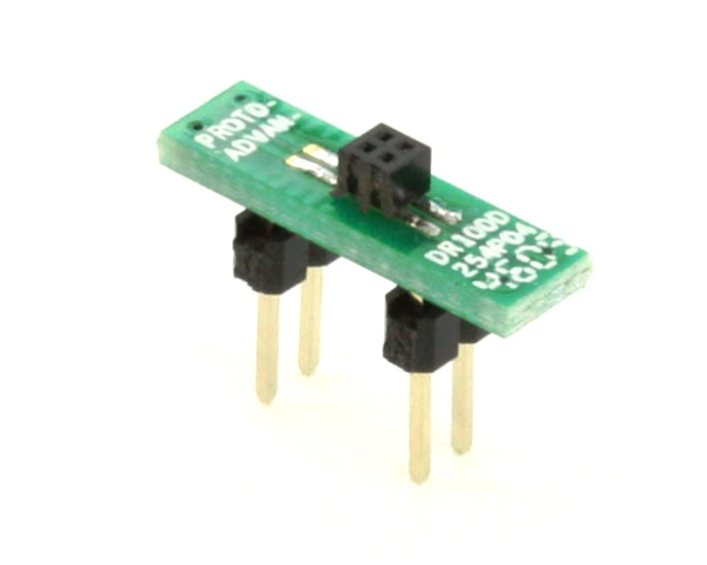 Dual Row 1.00mm Pitch  4-Pin Female Header to DIP-4 Adapter 0