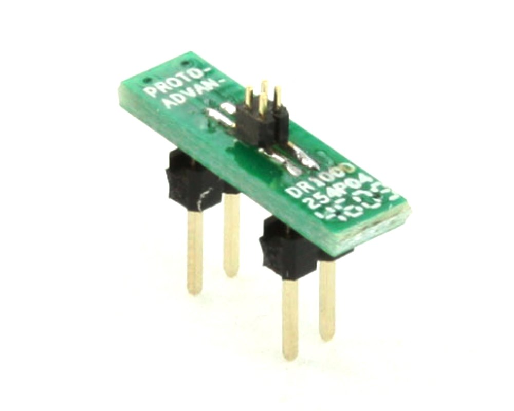 Dual Row 1.00mm Pitch  4-Pin Male Header to DIP-4 Adapter 0