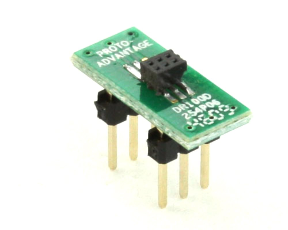 Dual Row 1.00mm Pitch  6-Pin Female Header to DIP-6 Adapter 0
