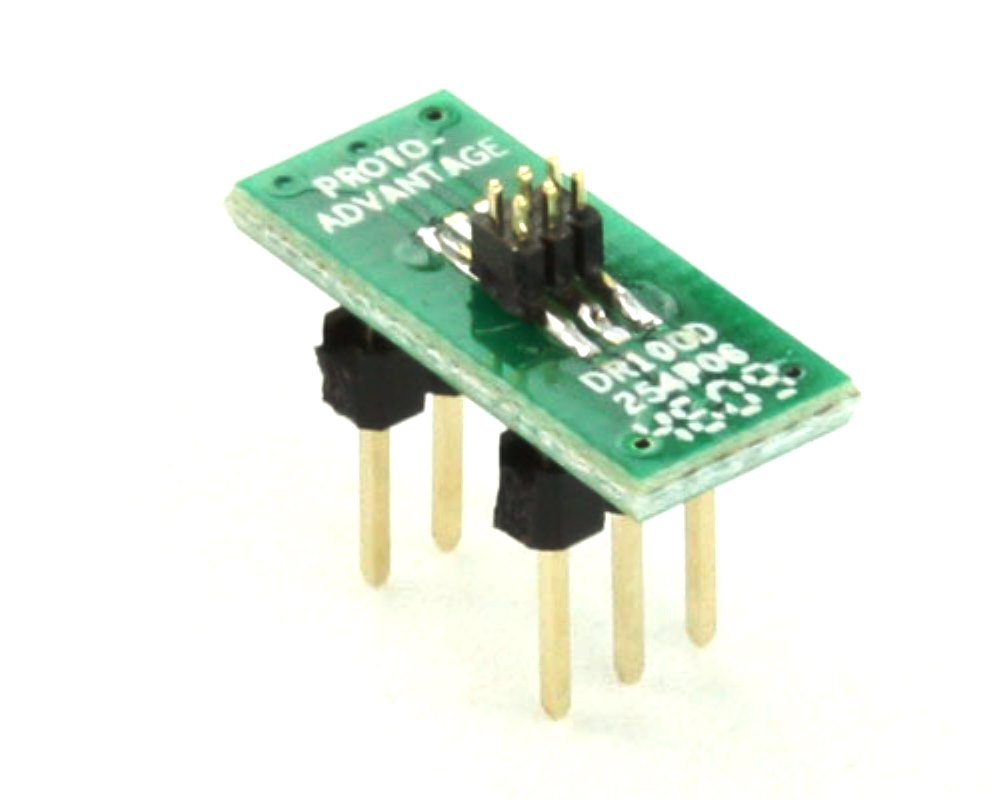 Dual Row 1.00mm Pitch  6-Pin Male Header to DIP-6 Adapter 0