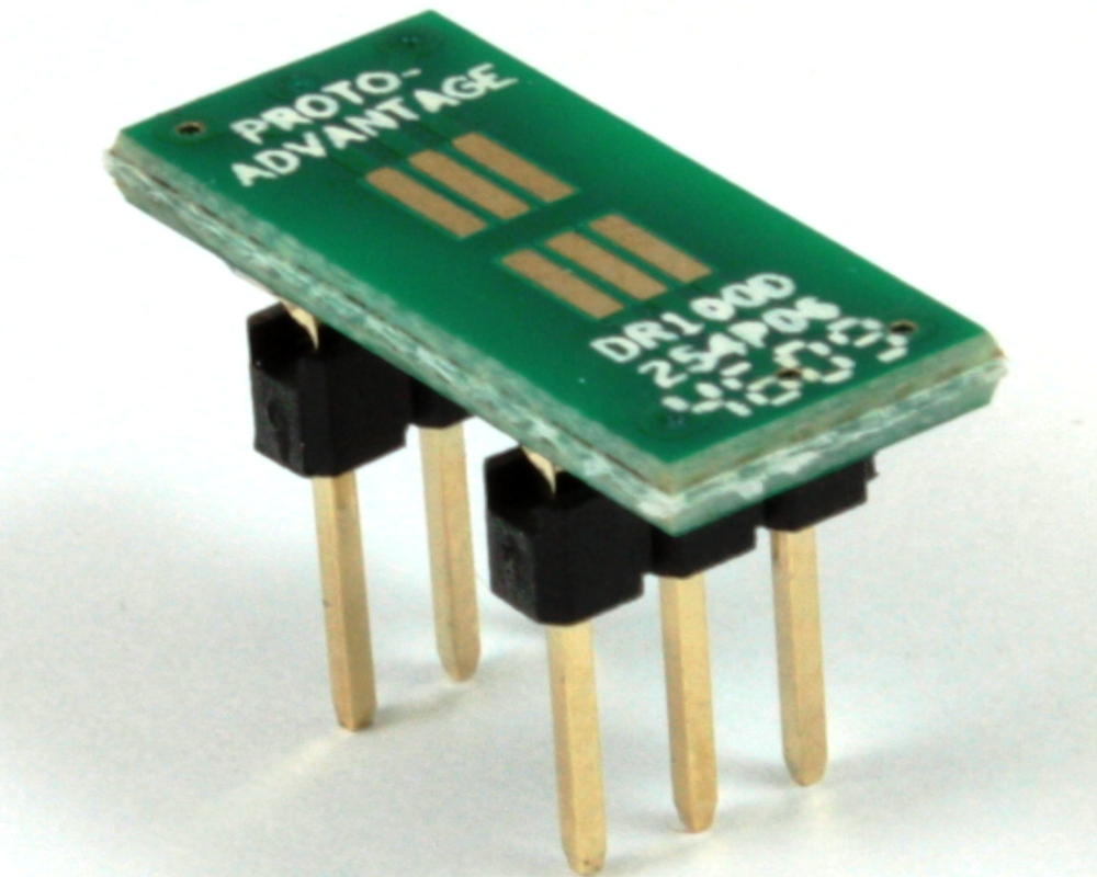 Dual Row 1.00mm Pitch  6-Pin to DIP-6 Adapter 0