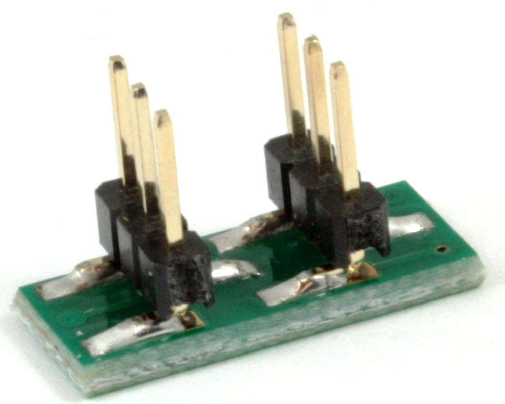 Dual Row 1.00mm Pitch  6-Pin to DIP-6 Adapter 1