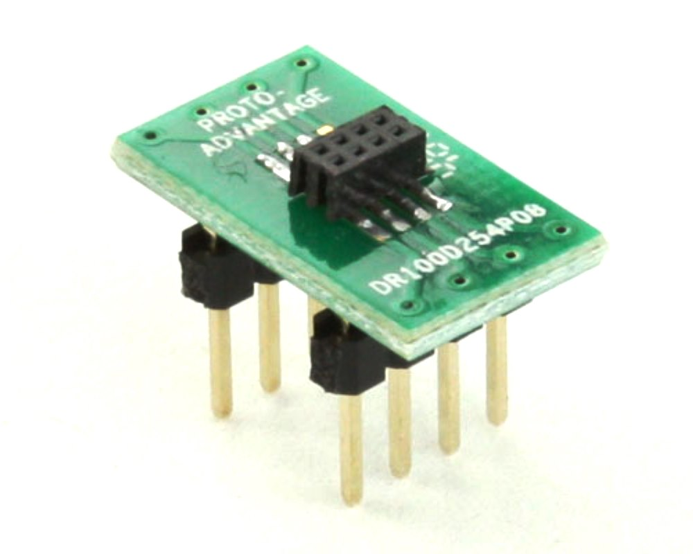 Dual Row 1.00mm Pitch  8-Pin Female Header to DIP-8 Adapter 0