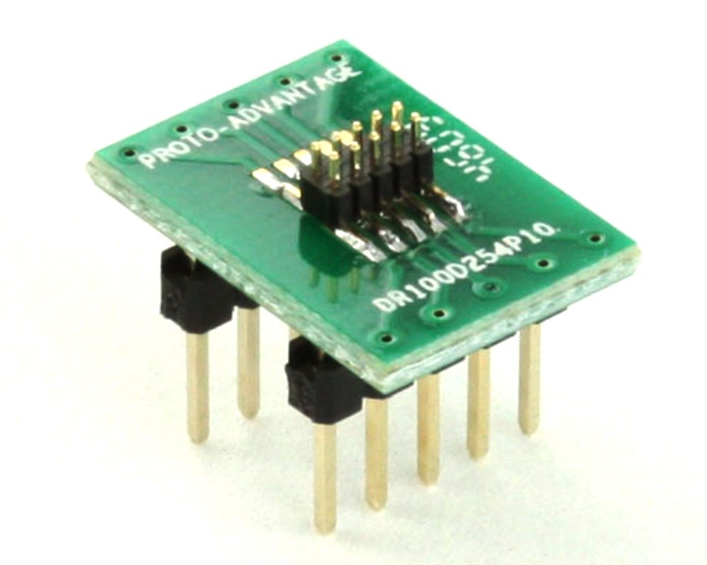 Dual Row 1.00mm Pitch 10-Pin Male Header to DIP-10 Adapter 0