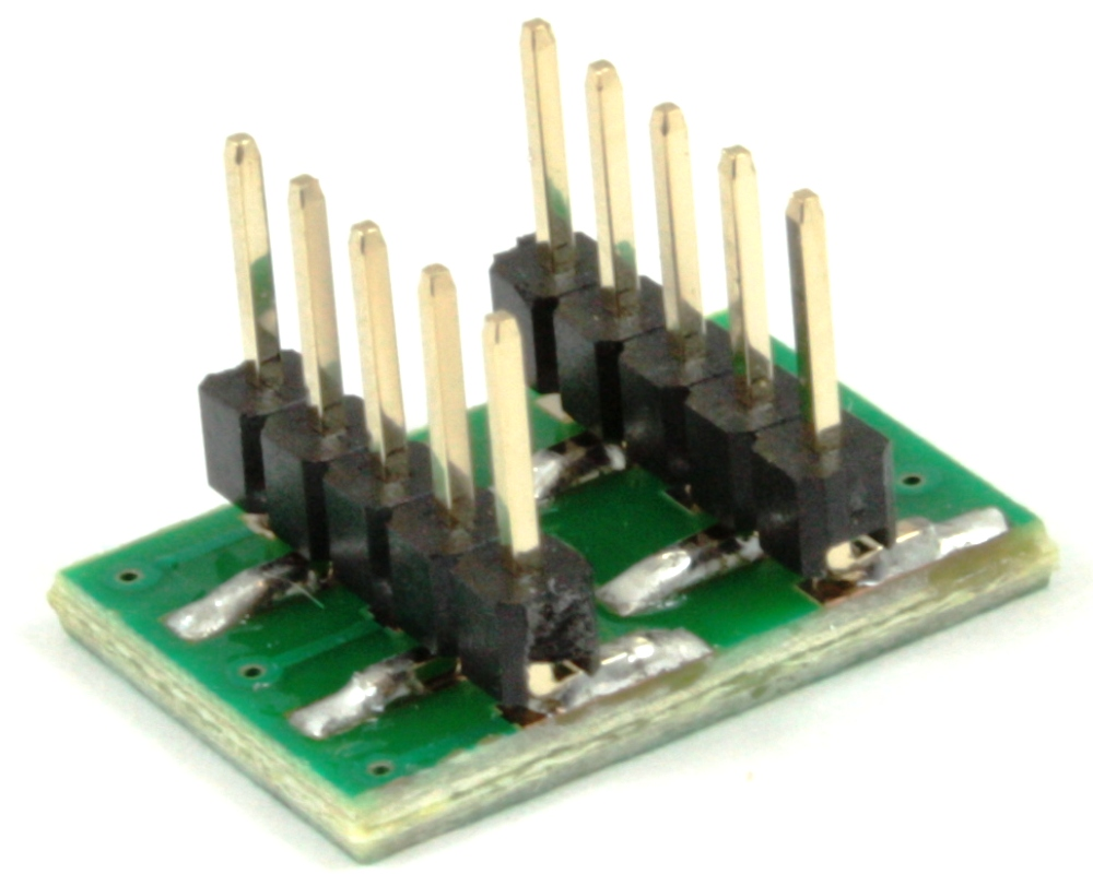 Dual Row 1.00mm Pitch 10-Pin to DIP-10 Adapter 1