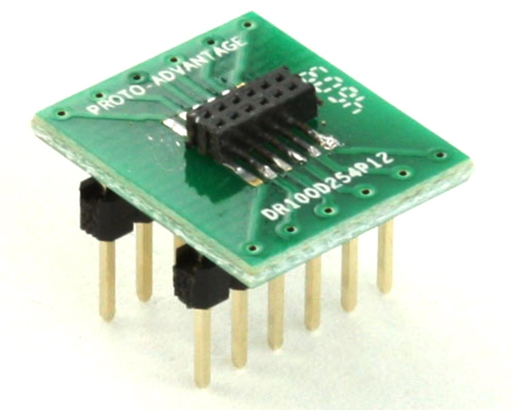 Dual Row 1.00mm Pitch 12-Pin Female Header to DIP-12 Adapter 0
