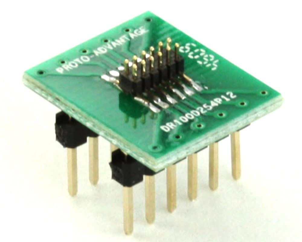 Dual Row 1.00mm Pitch 12-Pin Male Header to DIP-12 Adapter 0