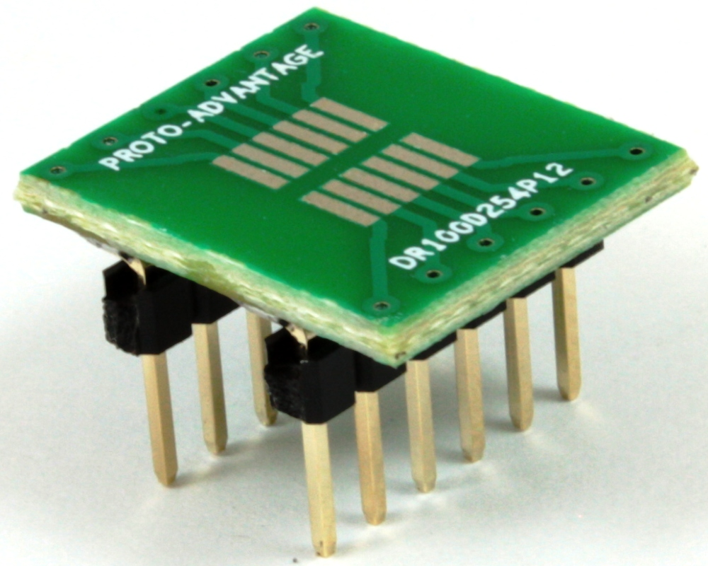Dual Row 1.00mm Pitch 12-Pin to DIP-12 Adapter 0