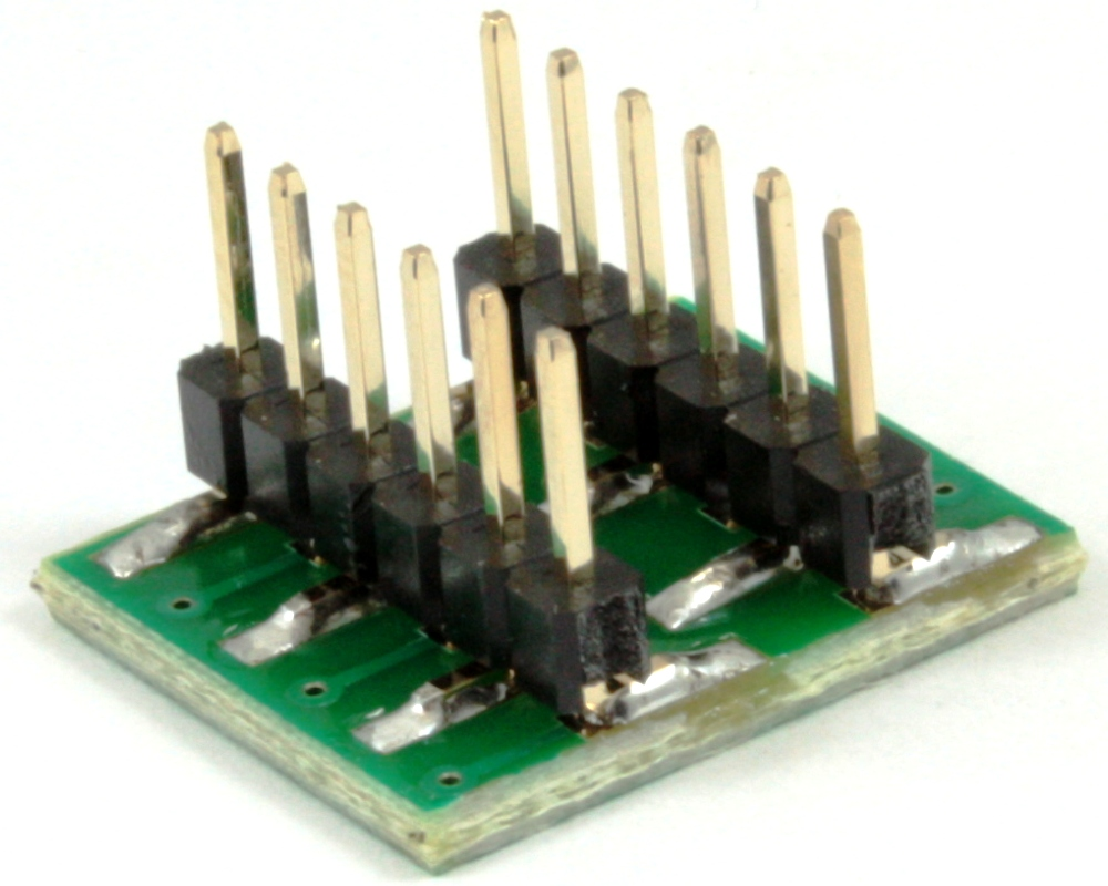 Dual Row 1.00mm Pitch 12-Pin to DIP-12 Adapter 1