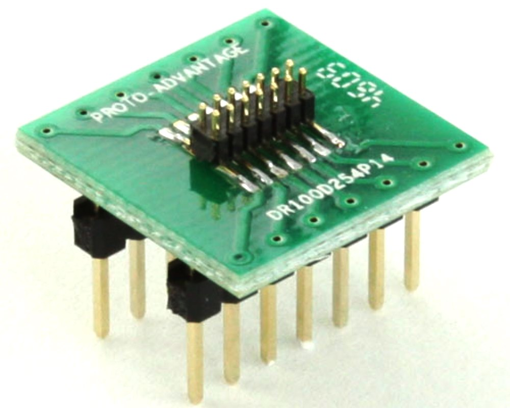 Dual Row 1.00mm Pitch 14-Pin Male Header to DIP-14 Adapter 0